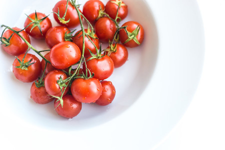 Ripe fresh red cherry tomatoes