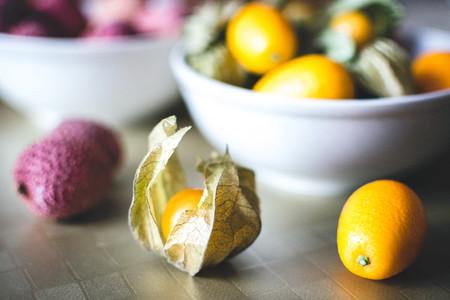 Litchi  kumquat and physalis bal