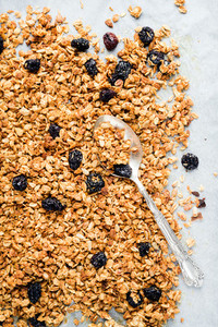 Homemade oat  cherry and coconut granola
