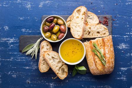 Mediterranean snacks set