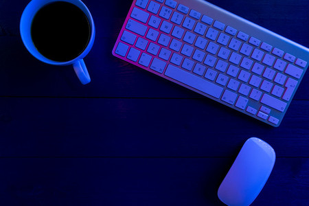 Computer keyboard night