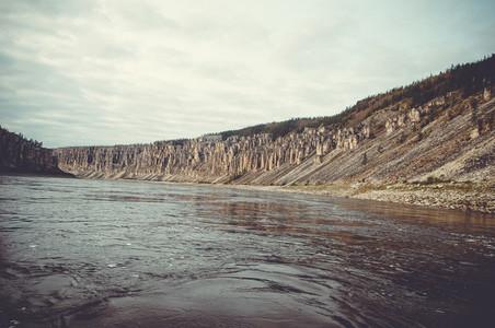rocks river shore