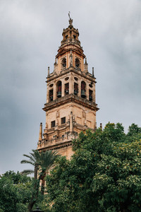 Views of the mosque tower in cordoba  spain
