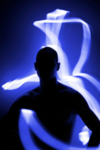 Light Painting Silhouette