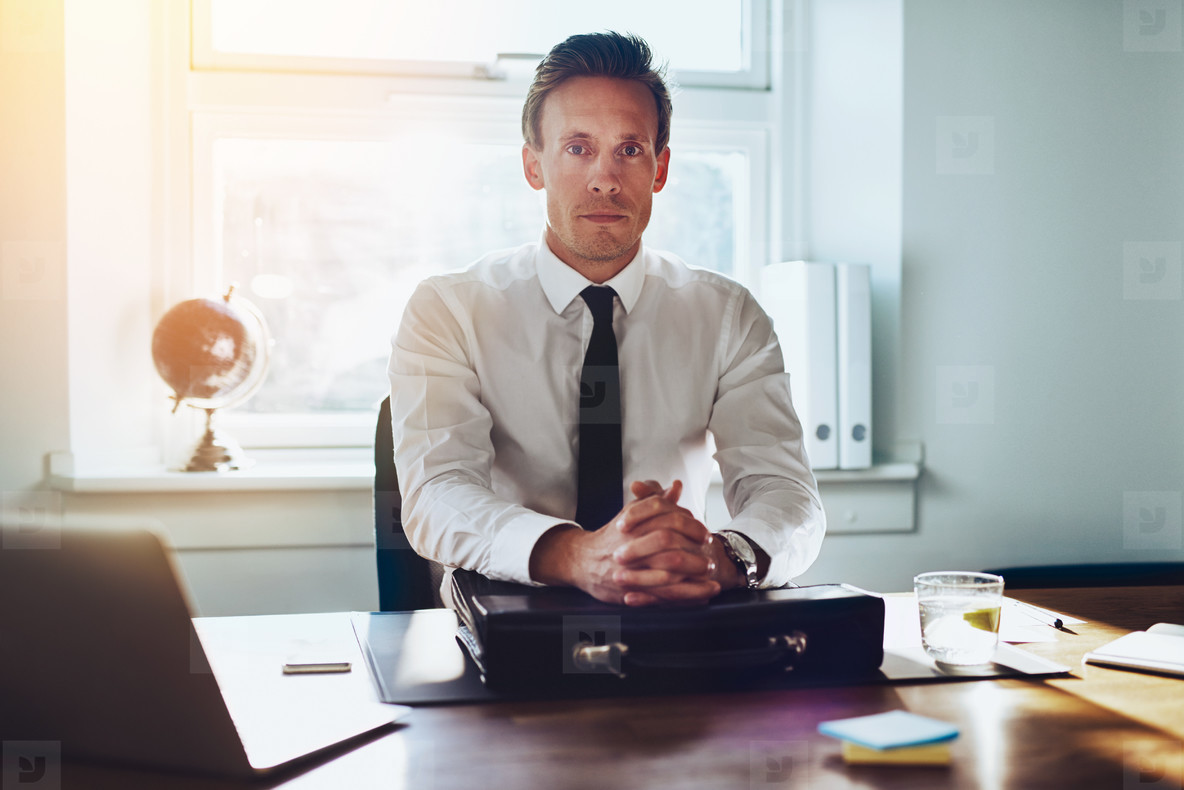 Executive business man at his desk