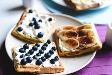 Blueberry Banana homemade waffle