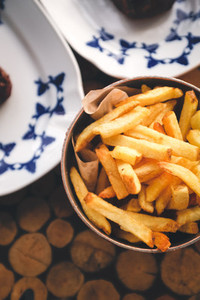 Bowl of fried french fries