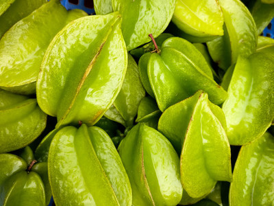 Bunch of star fruit aerial