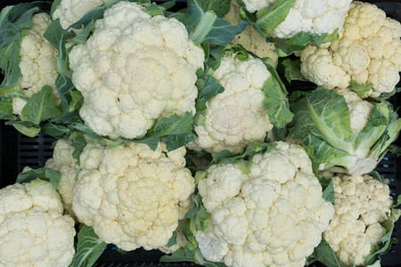Bunch of white cauliflowers