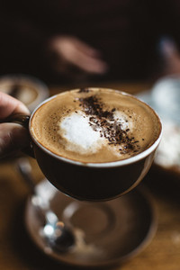 Cappuccino with cocoa sprinkle