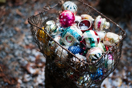 Glass Holiday Ornaments