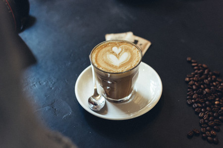 Flat white with caffe art