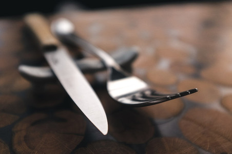 Fork and steak knife