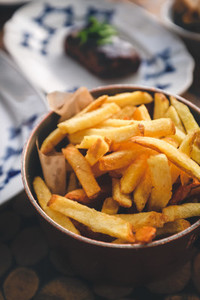 French fries with steak