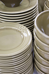 Stacked Dishes
