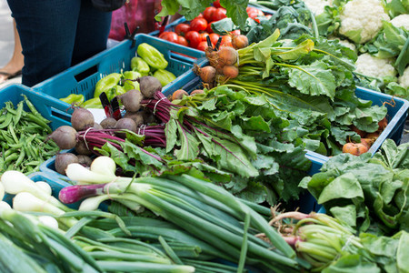 Mix of vegetables at market