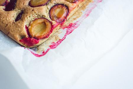 Moist traditional Czech plum pie