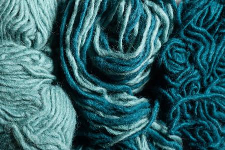 Teal Yarn Closeup