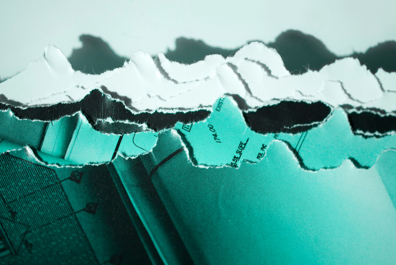 Torn Paper Waves