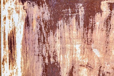 Close up antique rusty metallic texture