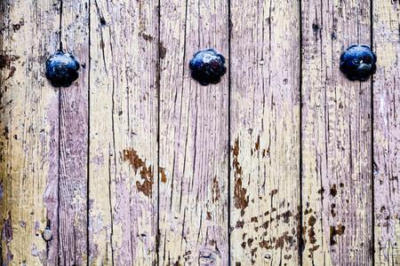 Close up brown wooden door texture