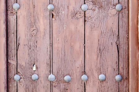 Close up brown wooden door texture