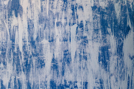 Blue metal door with weathered paint