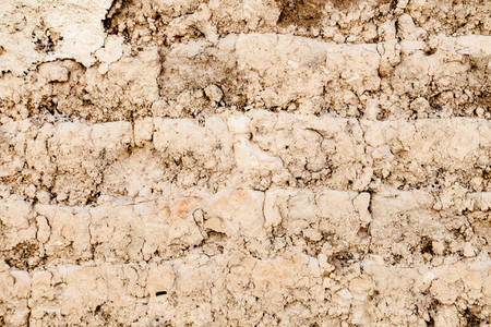 Old adobe brick wall for background or Texture