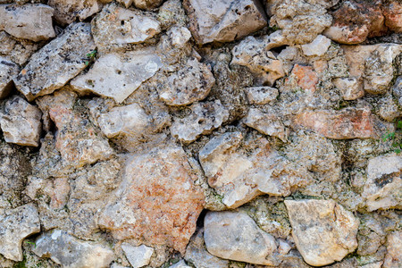 Part of a stone wall for background or texture