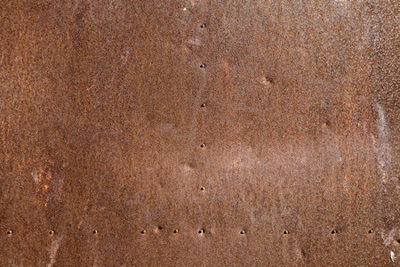 Close up antique rusty metallic texture