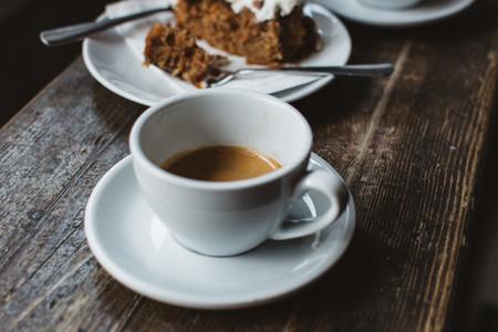 Espresso with carrot cake