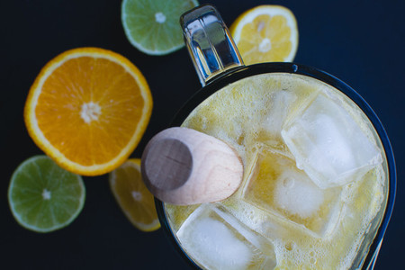 Homemade citrus lemonade