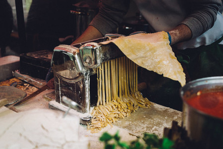 Making fresh homemade pasta