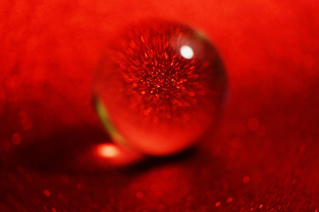 Abstract macro red background