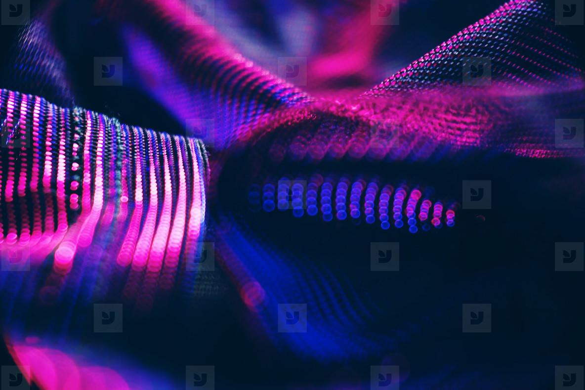 Neon lights bokeh macro