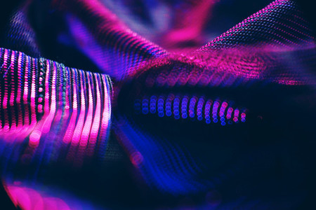 Neon lights bokeh macro