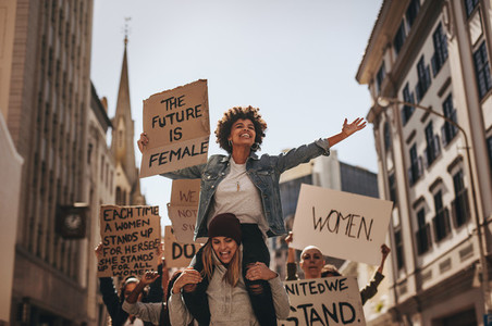 Demonstration of the future is female