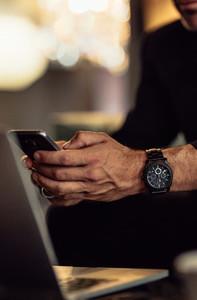 Business man using smart phone