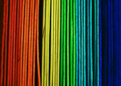 Wood sticks colorful background