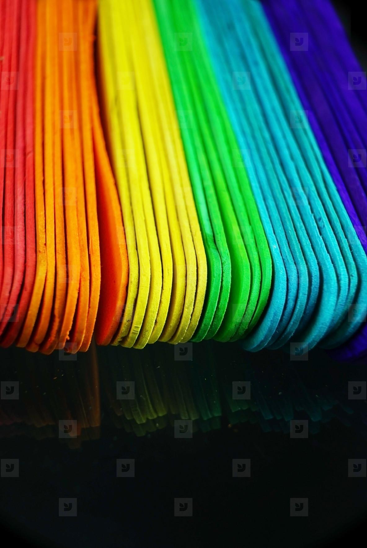 Wood sticks colorful background