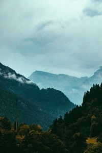 Mountain Range in the fog 03