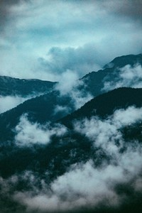 Mountain Range in the fog 02