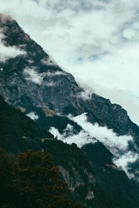 Mountain Range in the fog 04