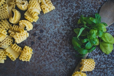 Pasta with basil