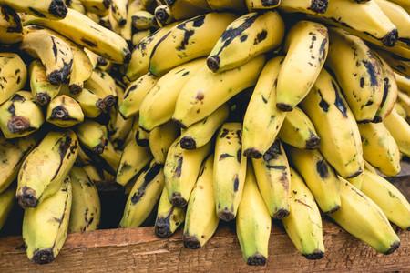 Pile of ripe bananas