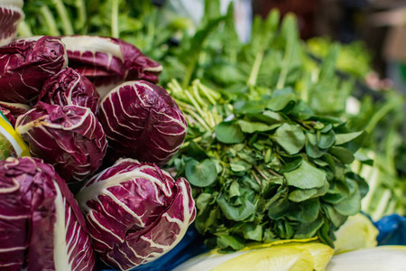 Radicchio and greens at market