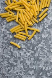 Raw pasta macaroni