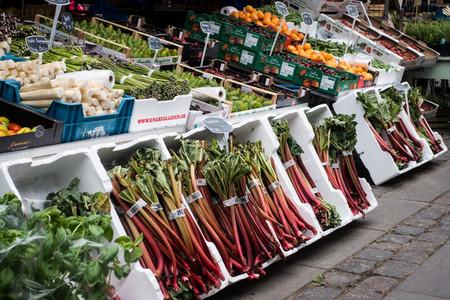 Rhubarb at farmers market