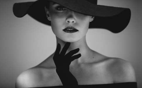 Beautiful woman in retro style