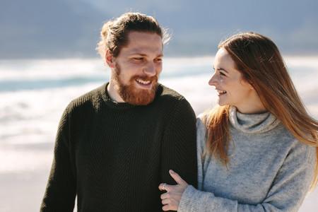 Couple enjoying beach vacation